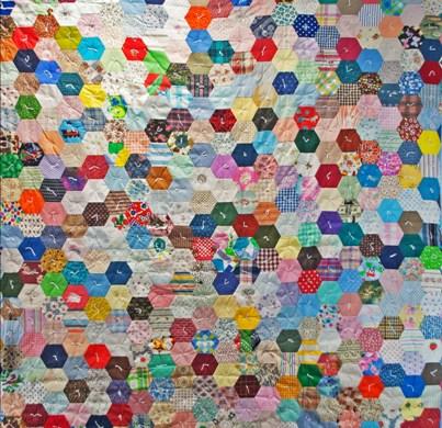 Free Quilt Pattern For Hexagon : hexagon quilt pattern Free Quilt Patterns
