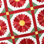 poinsettia quilt block