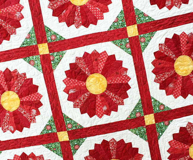 Poinsettia Quilt Block Pattern Free Quilt Patterns