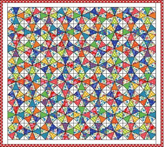 Kaleidoscope Quilt : Free Quilt Patterns