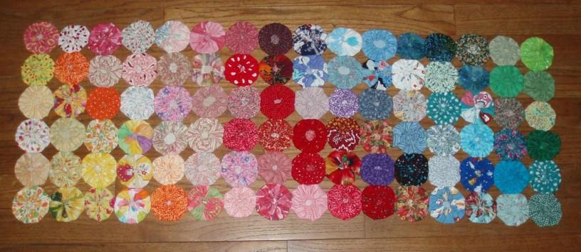 Yo yo quilt free quilt patterns for Yo yo patterns crafts