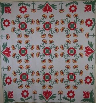 Rose of Sharon quilt | Free Quilt Patterns : rose of sharon quilt - Adamdwight.com