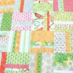 easy strip block baby quilt
