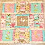 shabby spring baby rag quilt
