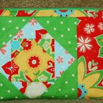 paper pieced quilted zip pouch