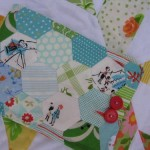 paper piecing quilted hexagon pouch