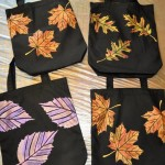 Painted quilted bag