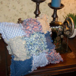 9 patch quilted rag pillow