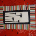 Itsy bitsy spider wall hanging halloween quilt