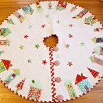8 easy quilted christmas tree skirt patterns