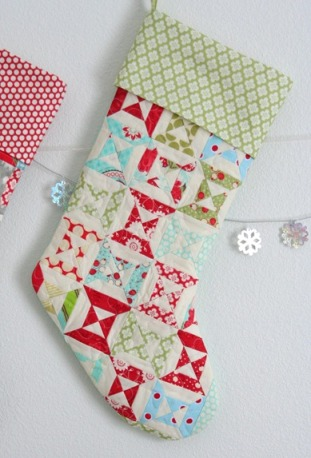 40 Quilted Christmas Stockings Free Quilt Patterns Beauteous Quilted Christmas Stocking Pattern
