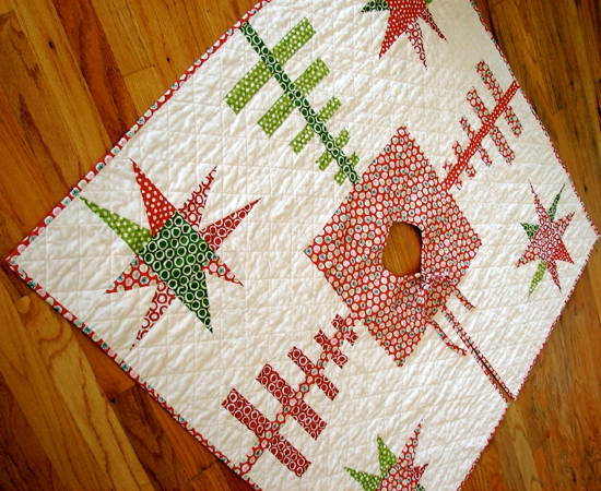 Christmas tree skirt quilt patterns free