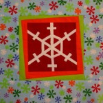 Christmas snow flake quilt